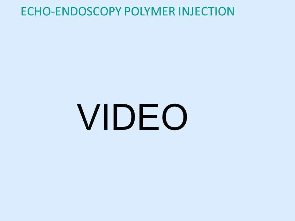 VIDEO ECHO-ENDOSCOPY POLYMER INJECTION