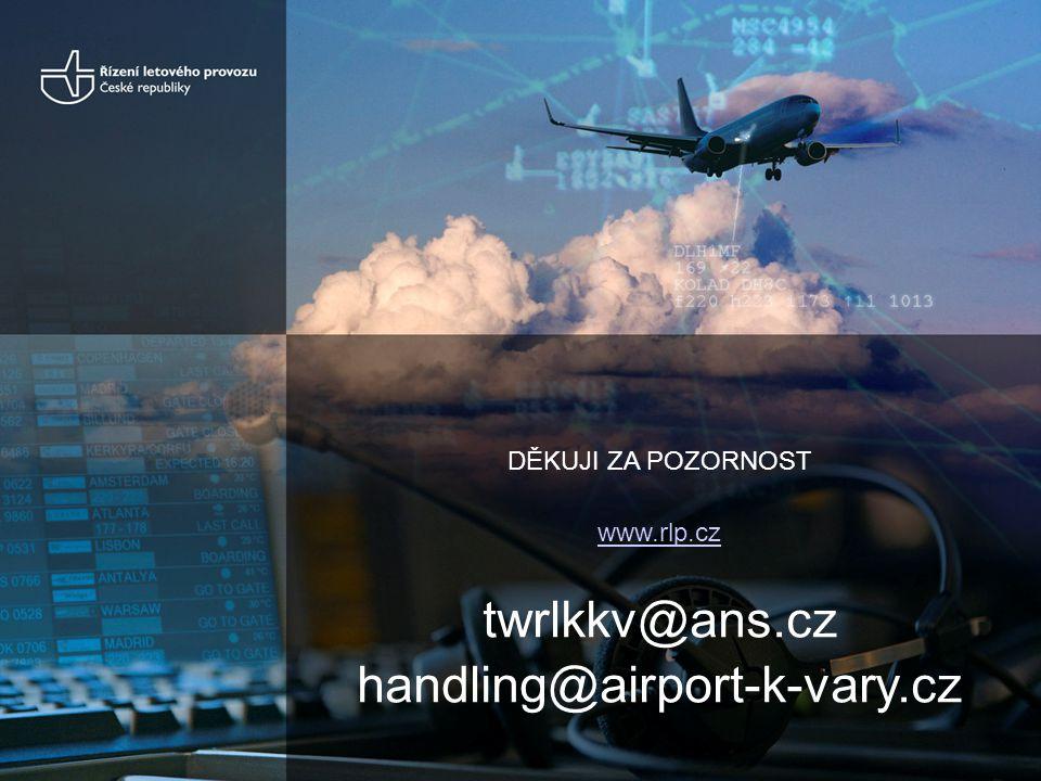 DĚKUJI ZA POZORNOST www.rlp.cz twrlkkv@ans.cz handling@airport-k-vary.cz