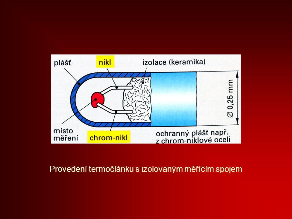 Provedení termočlánku s izolovaným měřícím spojem