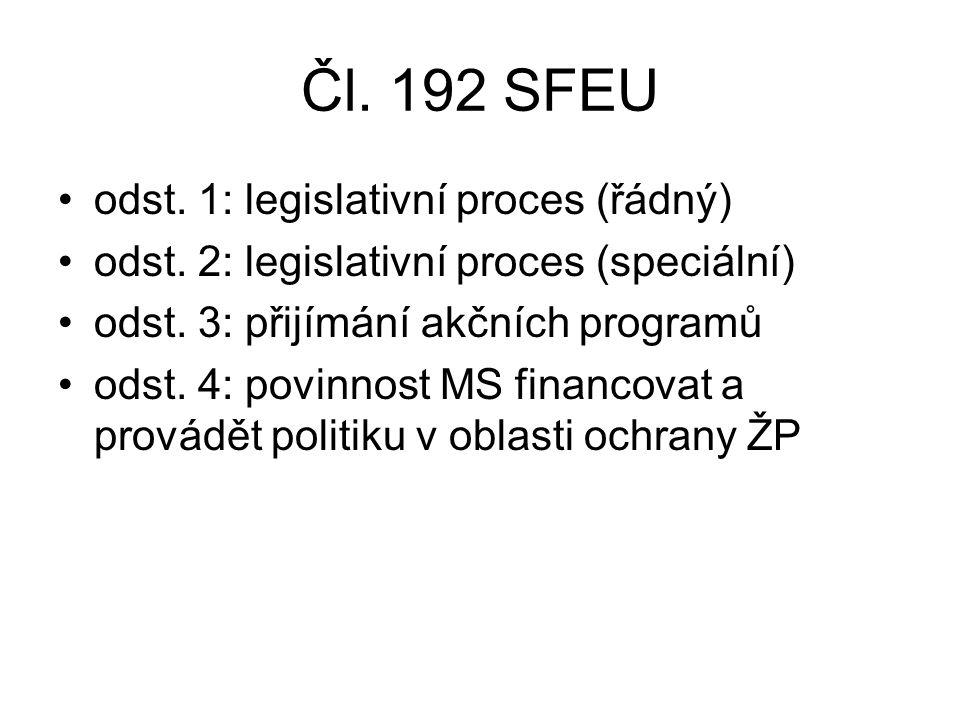 Čl. 192 SFEU odst. 1: legislativní proces (řádný) odst.
