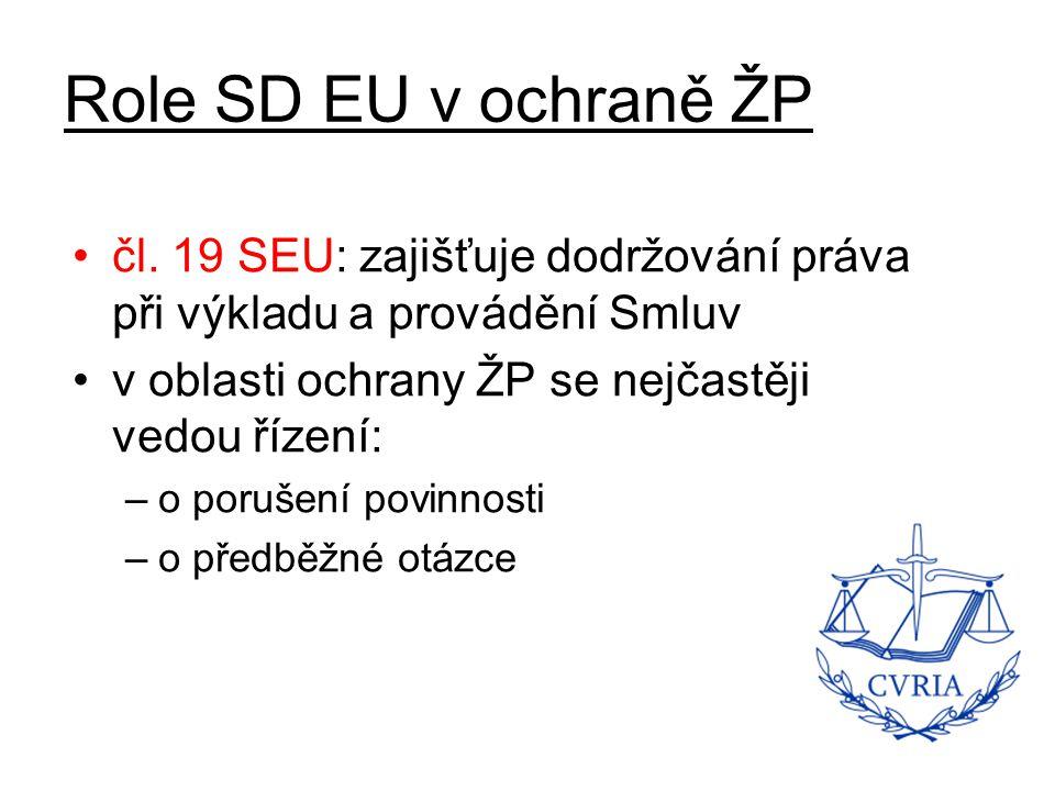 Role SD EU v ochraně ŽP čl.