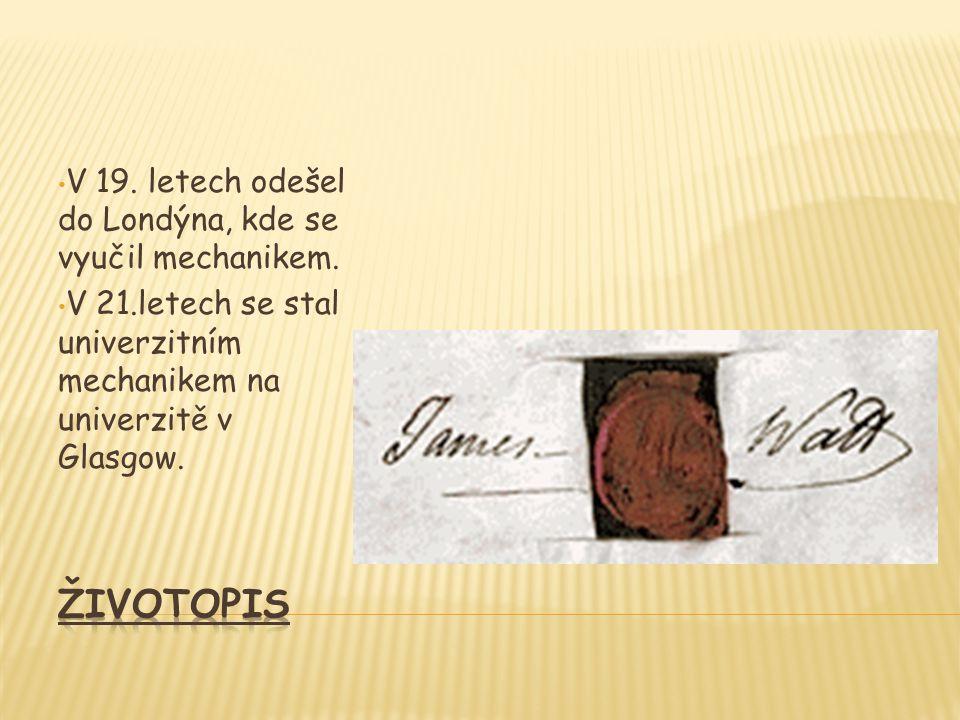 James Watt byl velmi uznávanou osobností. V roce 1785 byl zvolen členem královské společniosti.