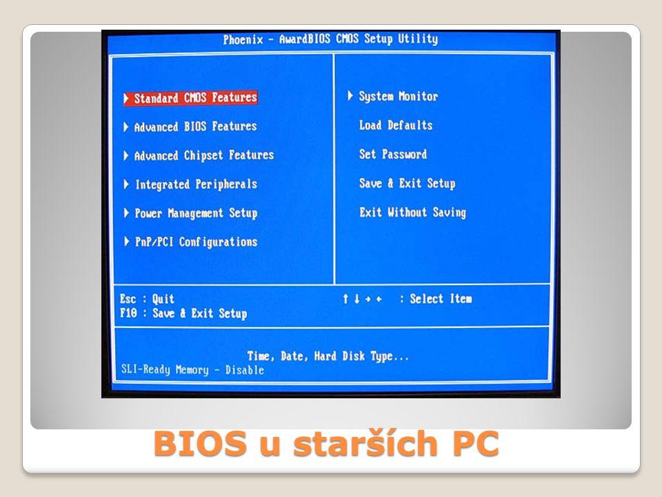 BIOS u starších PC