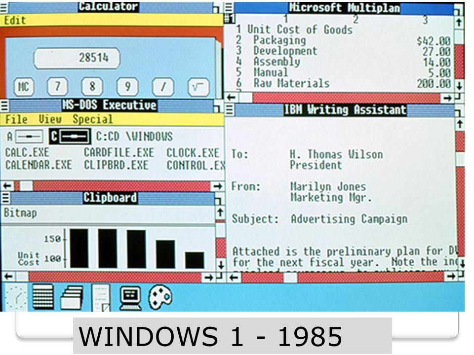 WINDOWS 1 - 1985