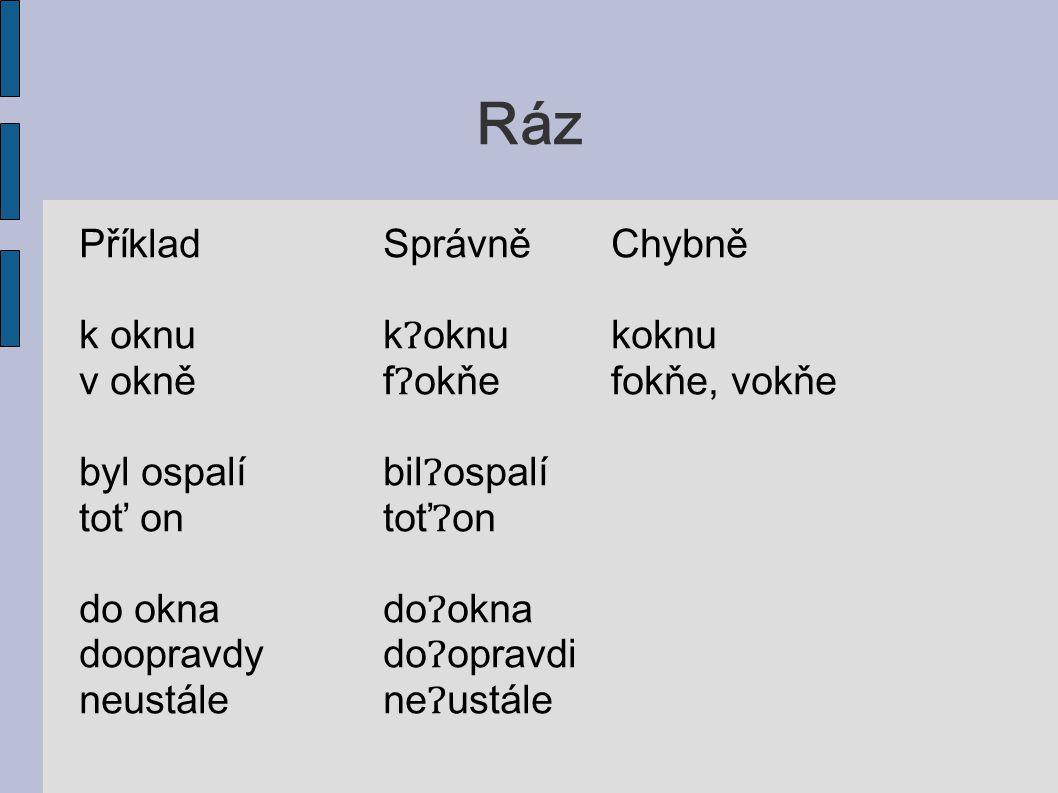 Dvě foneticky stejné hlásky PříkladSprávněChybně racciracciraci předtančenípřettančeňípřetančeňí nejjistějšínejjisťejšínejisťejší oznamme=ozname uvědomme si=uvjedome si