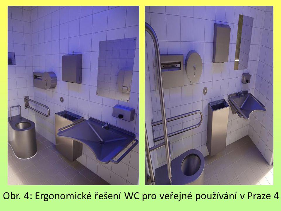 Obr. 4: Ergonomické řešení WC pro veřejné používání v Praze 4