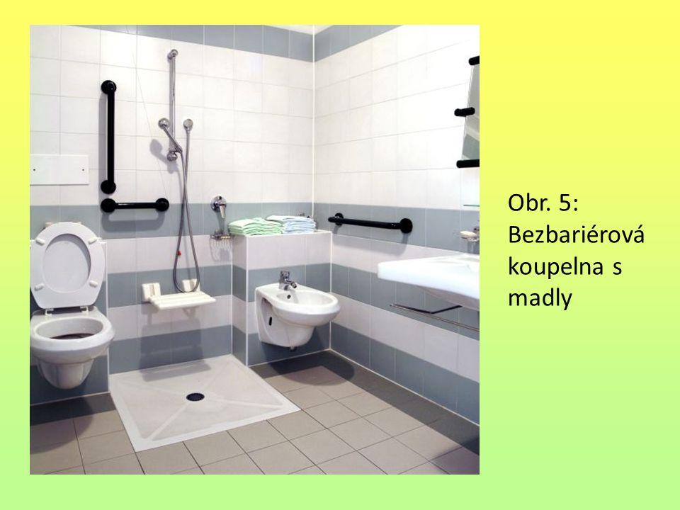 Obr. 5: Bezbariérová koupelna s madly