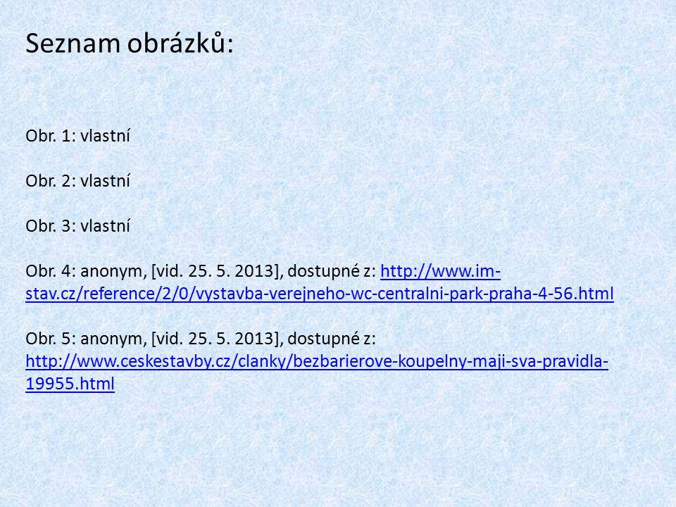 Seznam obrázků: Obr. 1: vlastní Obr. 2: vlastní Obr. 3: vlastní Obr. 4: anonym, [vid. 25. 5. 2013], dostupné z: http://www.im- stav.cz/reference/2/0/v