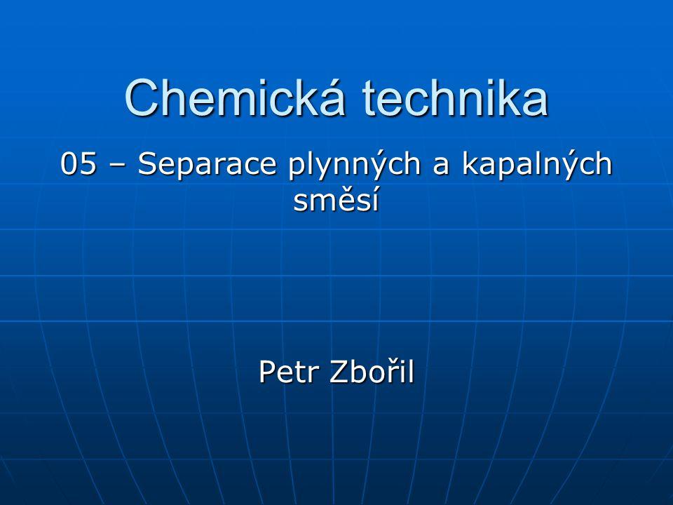 Chemická technika 05 – Separace plynných a kapalných směsí Petr Zbořil