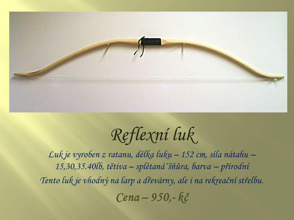 Přímý luk Luk je vyroben z ratanu, délka luku – 152 cm, síla nátahu – 15,30,35.40lb, tětiva – splétanᡚňůra, barva – přírodní Tento luk je vhodný na