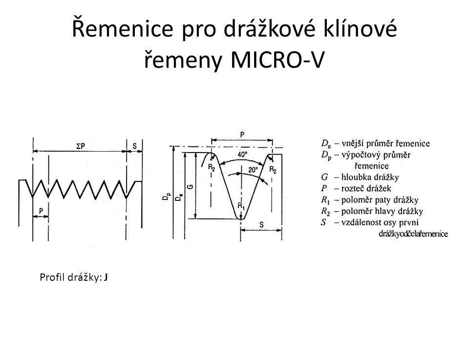 Řemenice pro drážkové klínové řemeny MICRO-V Profil drážky: J