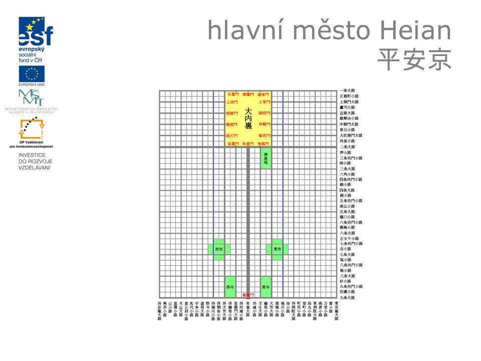 hlavní město Heian 平安京