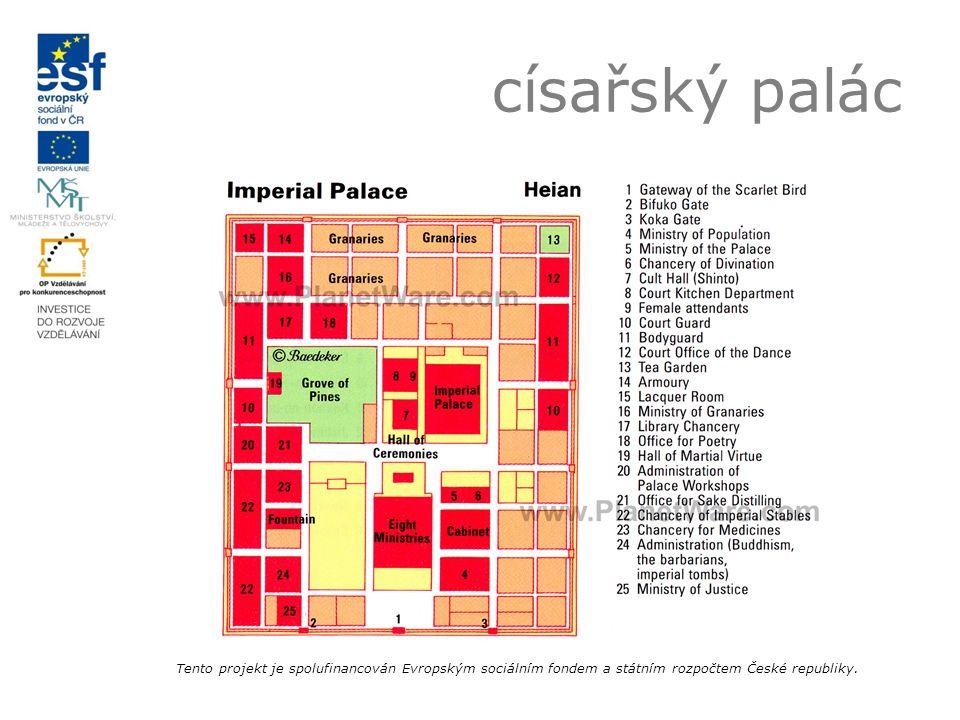 císařský palác Tento projekt je spolufinancován Evropským sociálním fondem a státním rozpočtem České republiky.