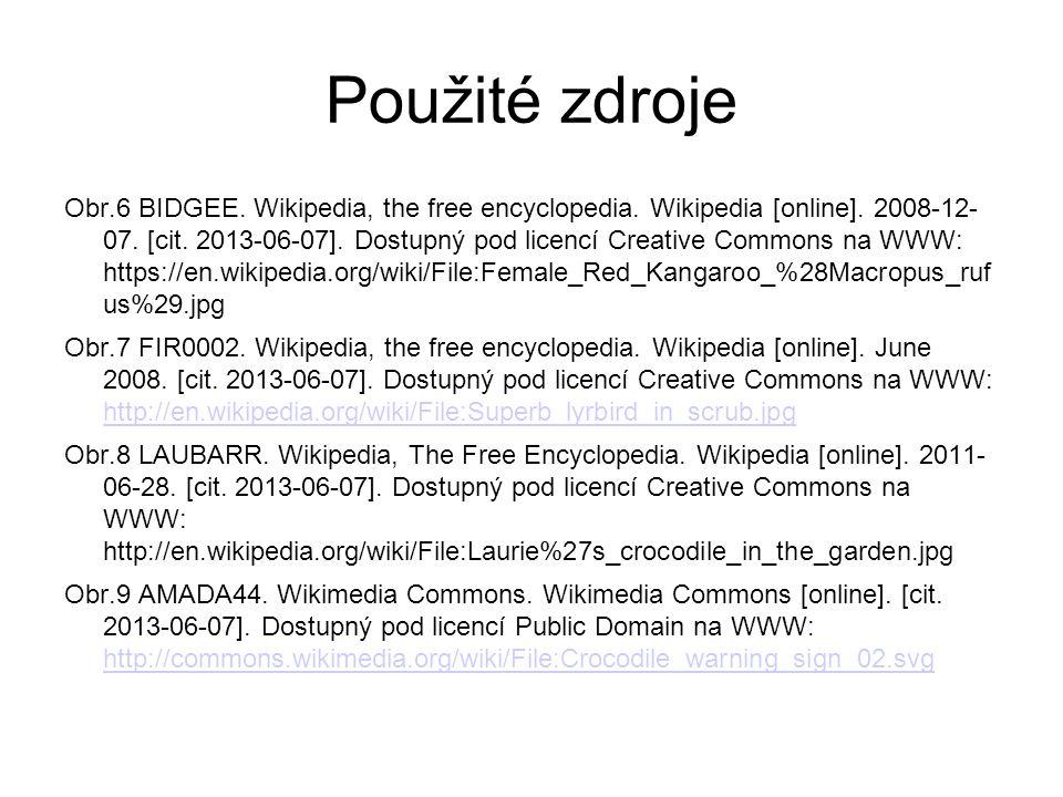 Použité zdroje Obr.6 BIDGEE. Wikipedia, the free encyclopedia.