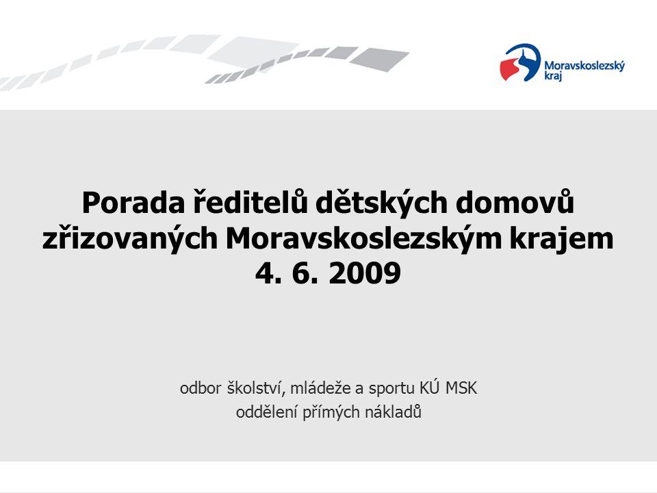 Porada ředitelů dětských domovů zřizovaných Moravskoslezským krajem 4.