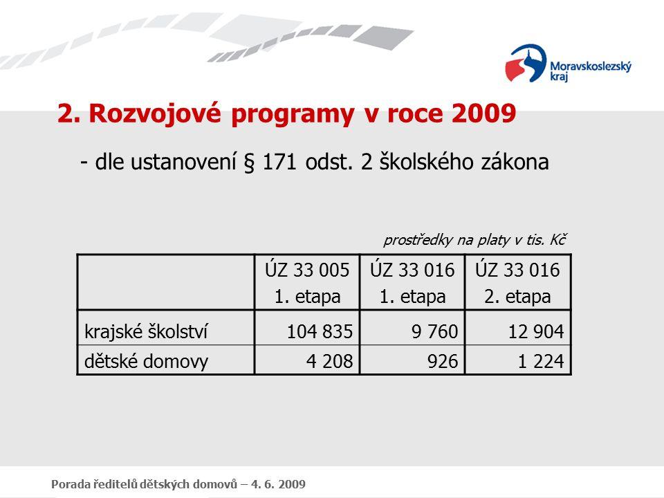 Porada ředitelů dětských domovů – 4. 6. 2009 2.