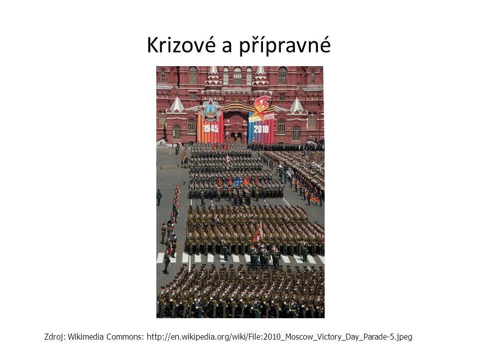 Krizové a přípravné Zdroj: Wikimedia Commons: http://en.wikipedia.org/wiki/File:2010_Moscow_Victory_Day_Parade-5.jpeg