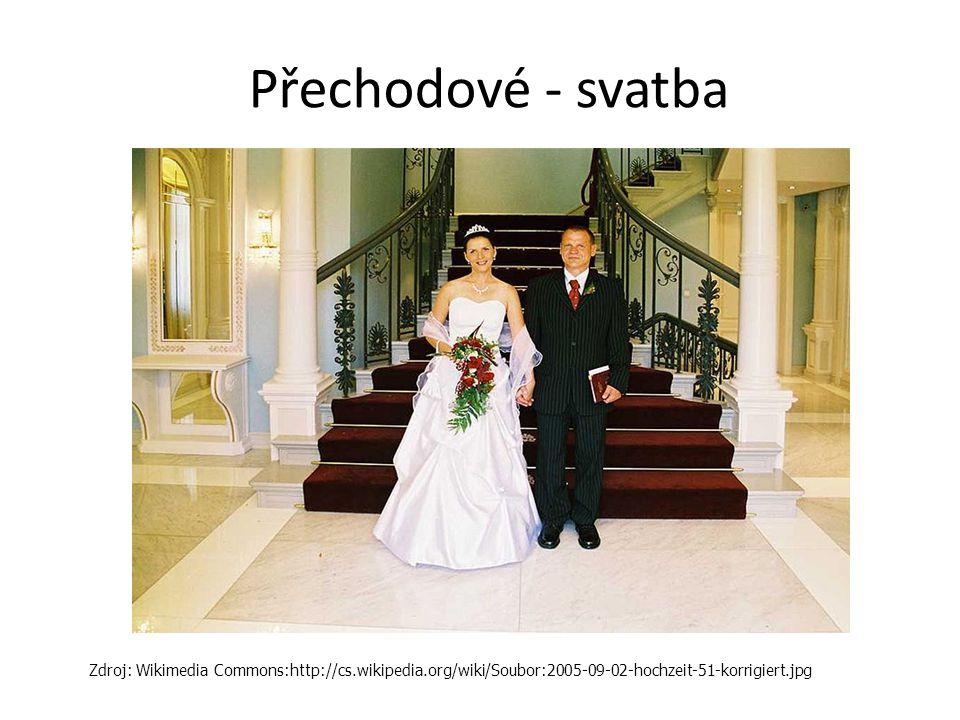 Přechodové - svatba Zdroj: Wikimedia Commons:http://cs.wikipedia.org/wiki/Soubor:2005-09-02-hochzeit-51-korrigiert.jpg