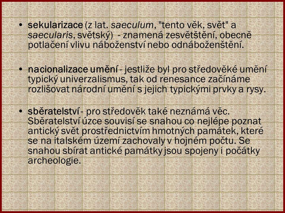 sekularizace (z lat. saeculum,