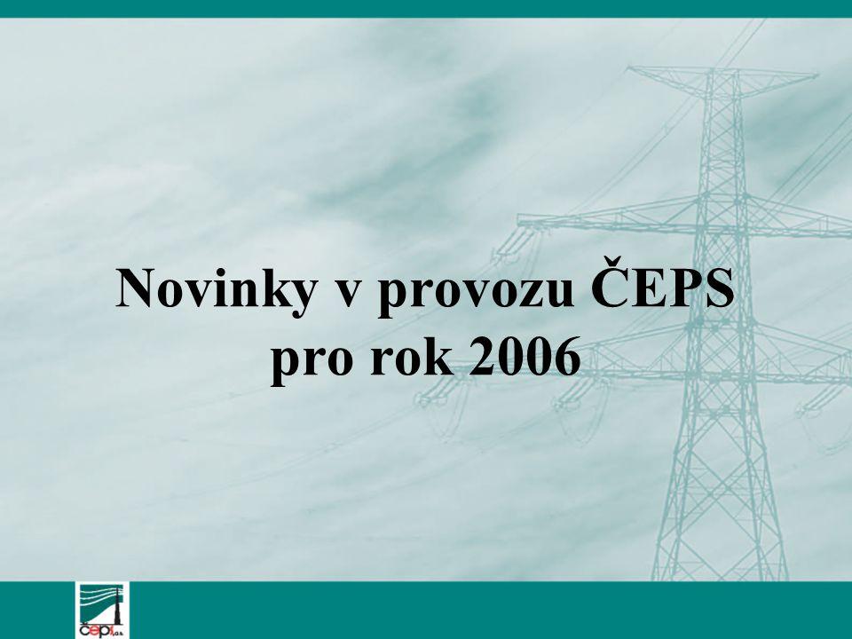 Novinky v provozu ČEPS pro rok 2006
