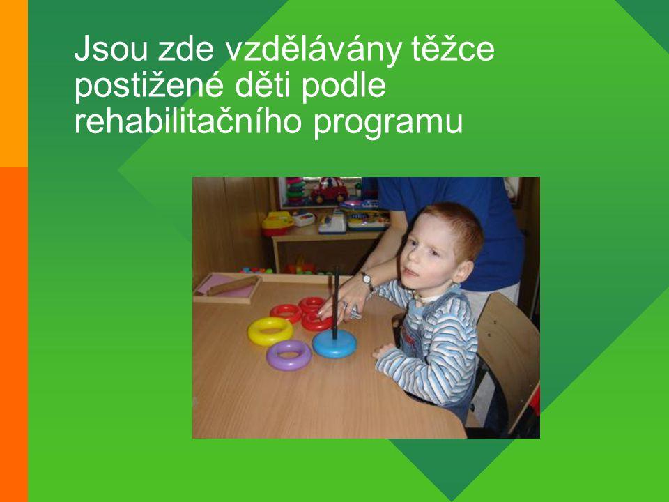 Jsou zde vzdělávány těžce postižené děti podle rehabilitačního programu
