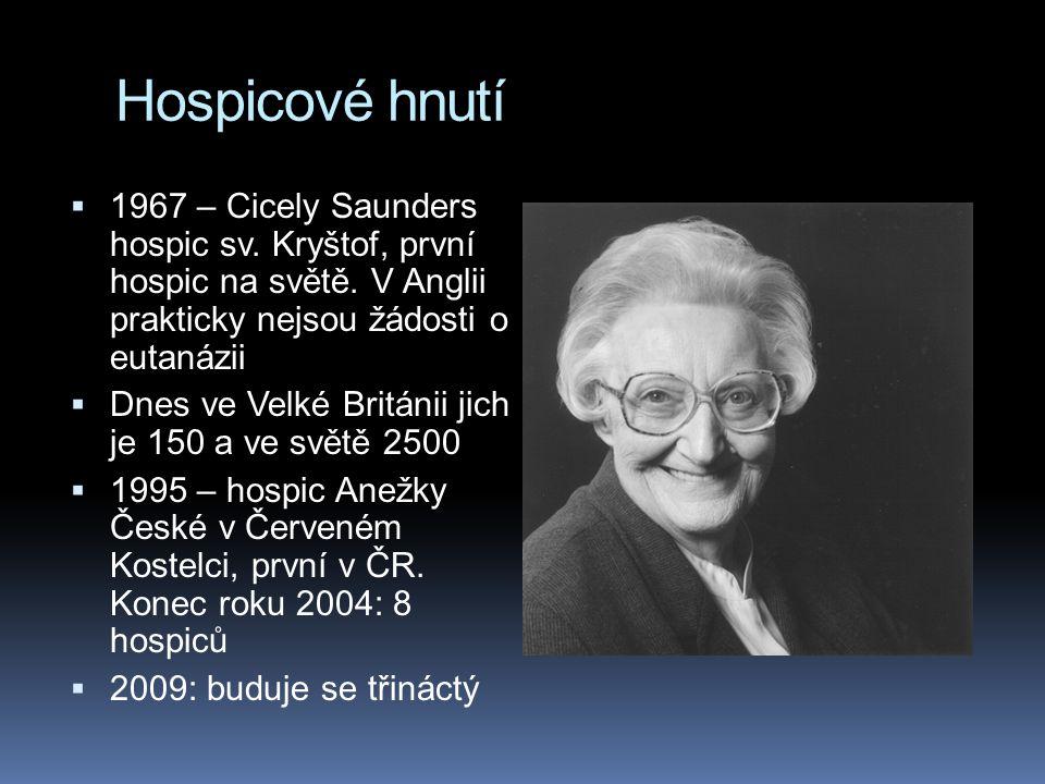 Hospicové hnutí  1967 – Cicely Saunders hospic sv.