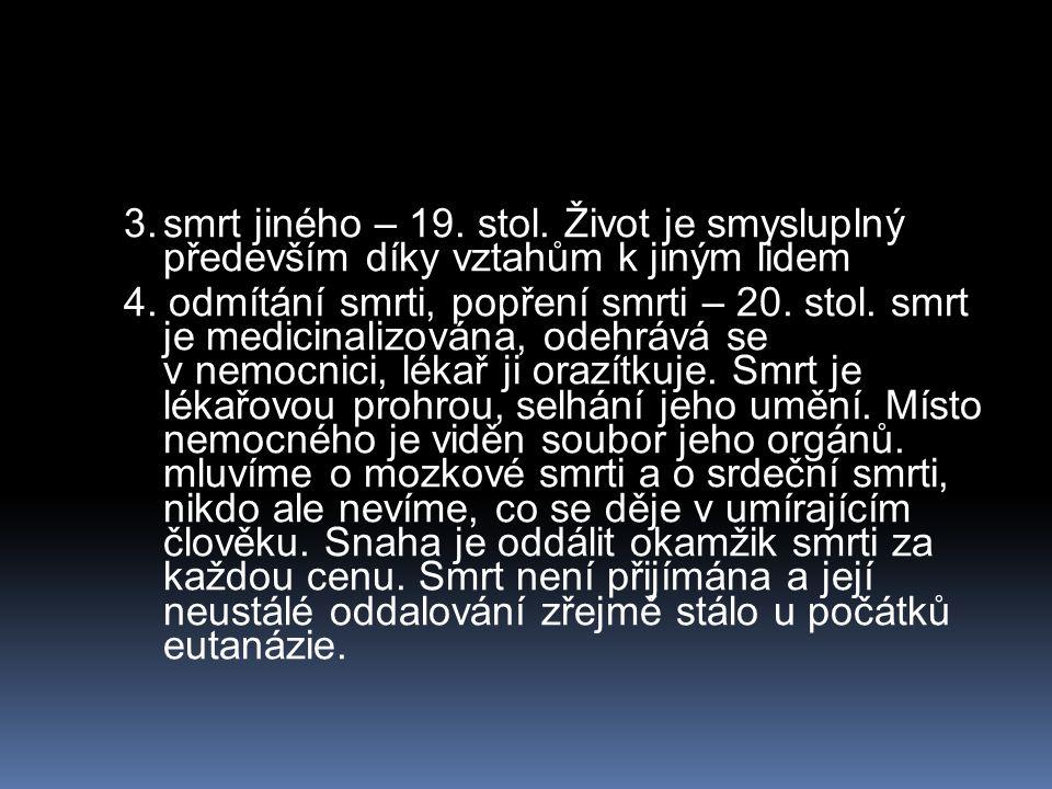 Hospicové hnutí  V ČR každoročně umírá kolem 105 000 lidí.