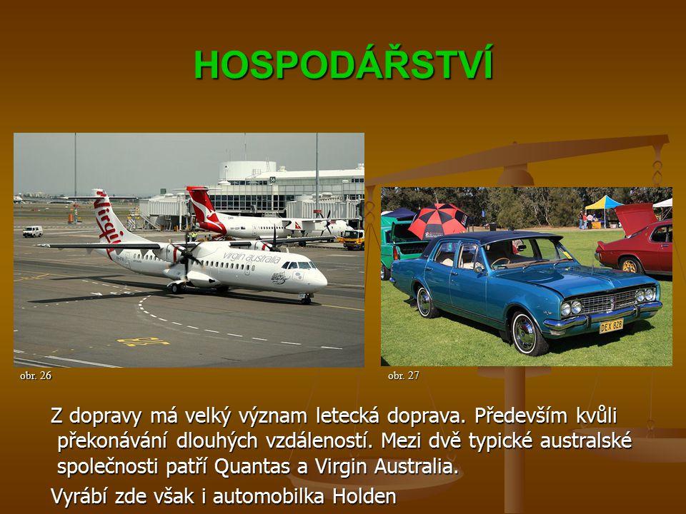 HOSPODÁŘSTVÍ Z dopravy má velký význam letecká doprava.