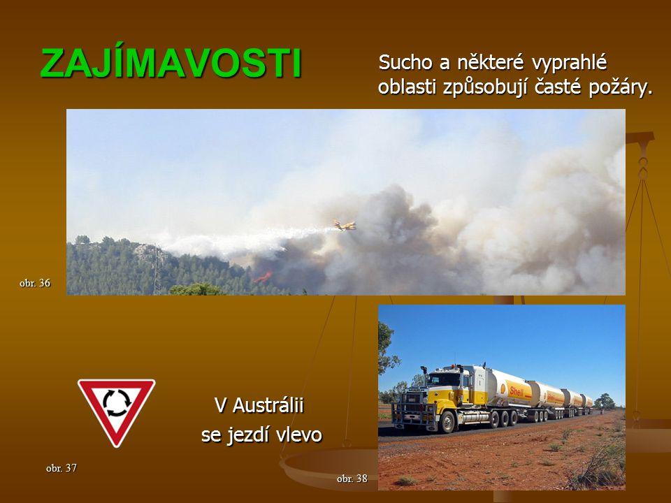 ZAJÍMAVOSTI Sucho a některé vyprahlé oblasti způsobují časté požáry.