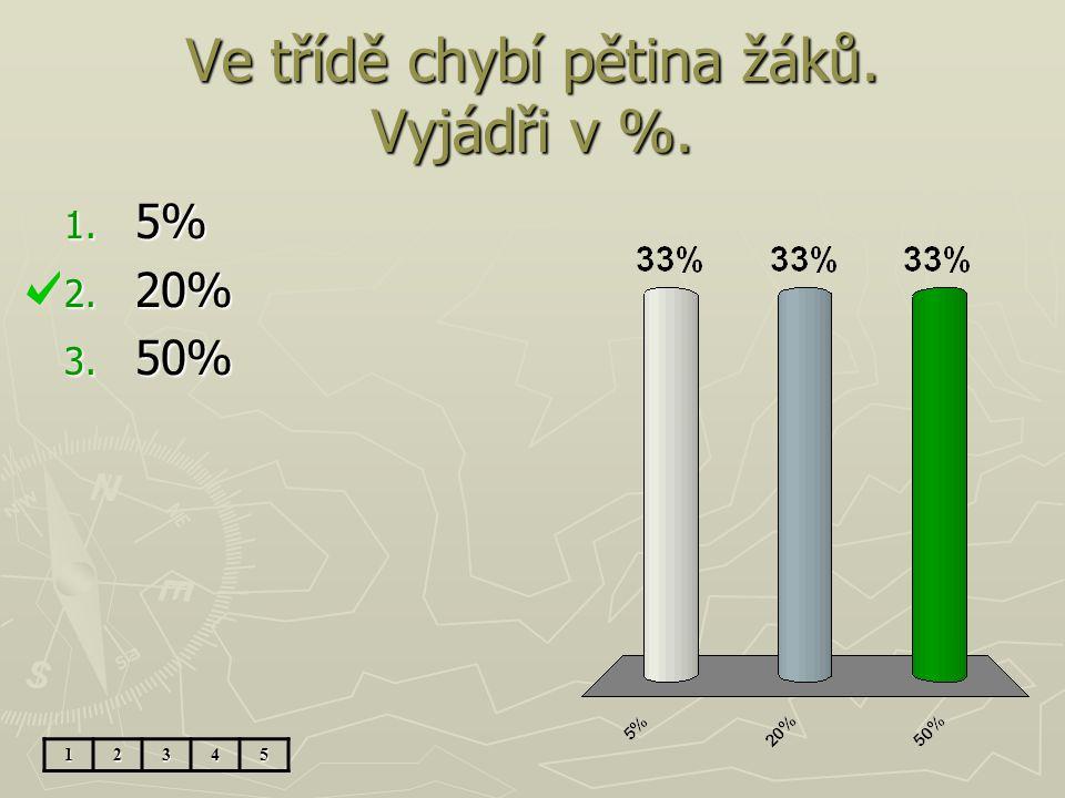 10% je 20. 40% ze stejného základu je.... 1. 80 2. 5 3. 200 12345