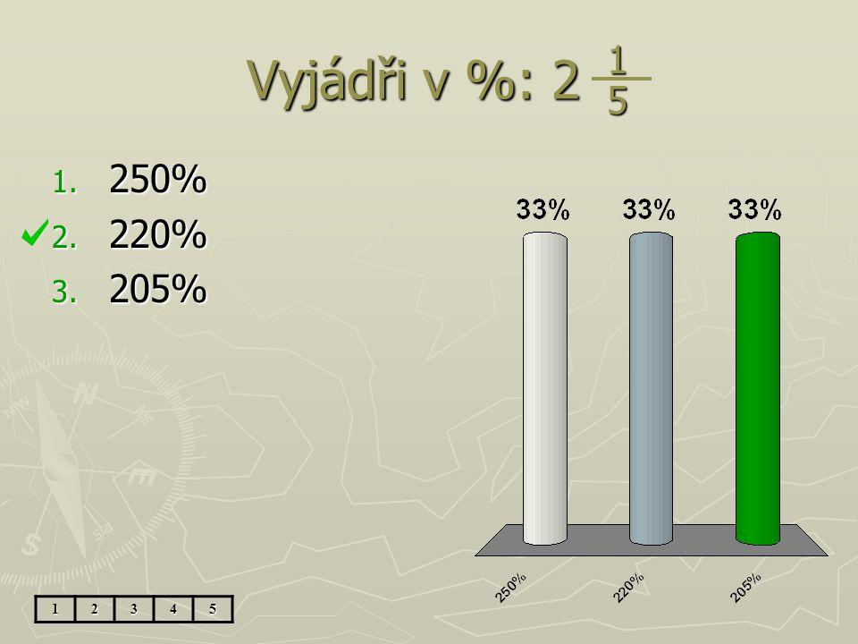 Jaká část obdélníku je vybarvena? 1. 10% 2. 30% 3. 0,1 12345