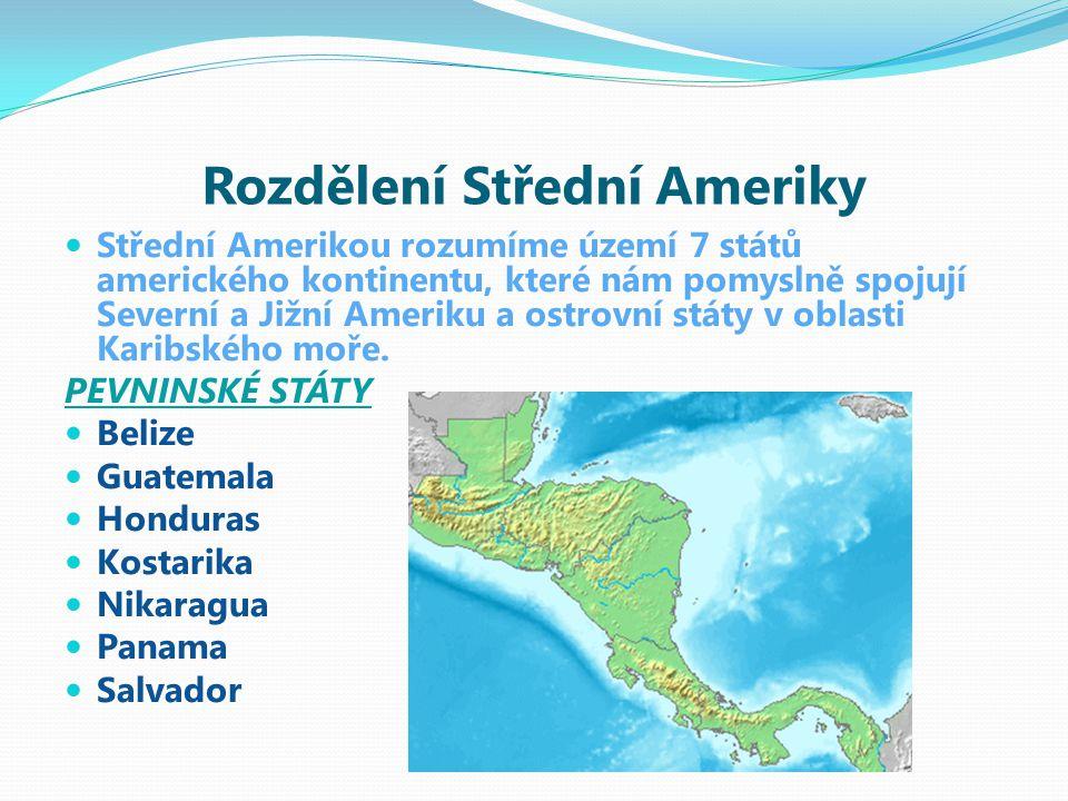 OSTROVNÍ STÁTY Zahrnují hlavně souostroví Velké Antily, Malé Antily a Bahamy VELKÉ ANTILY Kuba, Jamajka, Haiti, Portoriko MALÉ ANTILY Trinidad a Tobago, Antigua a Barbuda BAHAMY