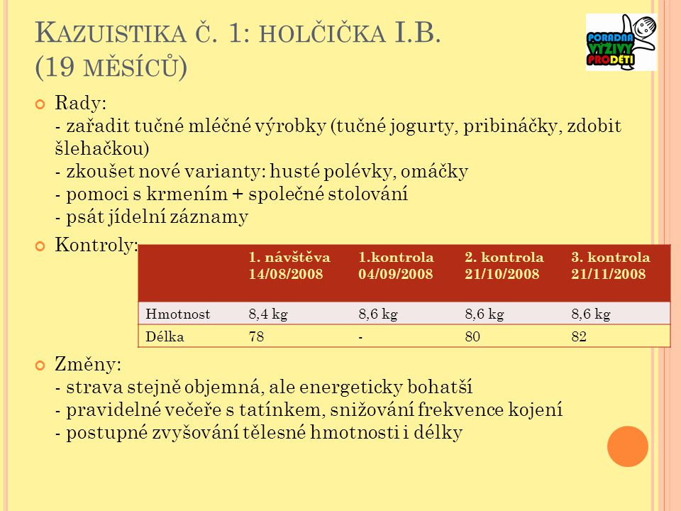 K AZUISTIKA Č.1: HOLČIČKA I.B.