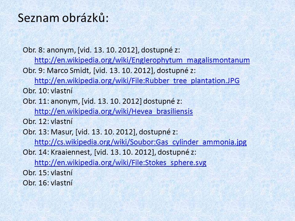 Seznam obrázků: Obr. 8: anonym, [vid. 13. 10. 2012], dostupné z: http://en.wikipedia.org/wiki/Englerophytum_magalismontanum http://en.wikipedia.org/wi