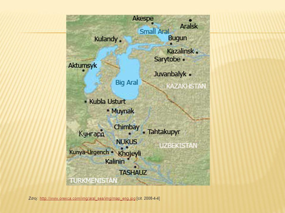 Zdroj: http://www.orexca.com/img/aral_sea/img/map_eng.jpg [cit. 2008-4-4]http://www.orexca.com/img/aral_sea/img/map_eng.jpg