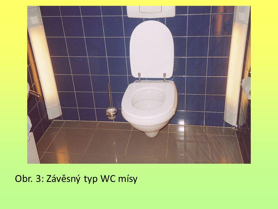 Obr. 3: Závěsný typ WC mísy