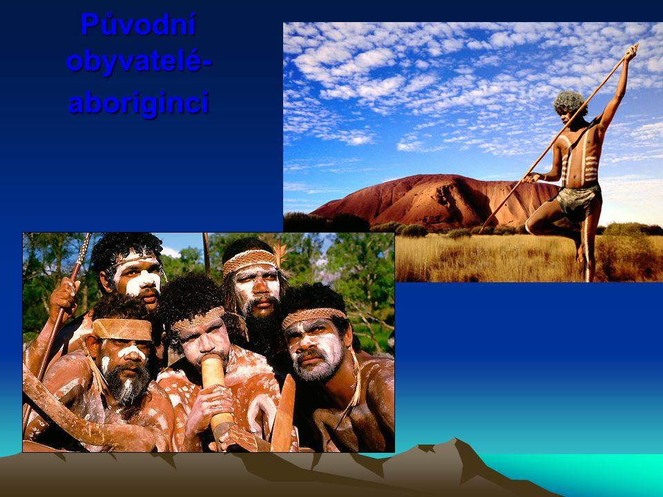 Původní obyvatelé- aboriginci