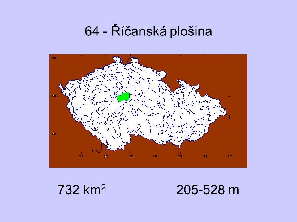 64 - Říčanská plošina 732 km 2 205-528 m