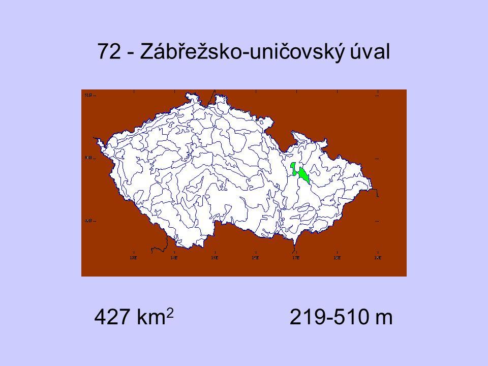 72 - Zábřežsko-uničovský úval 427 km 2 219-510 m