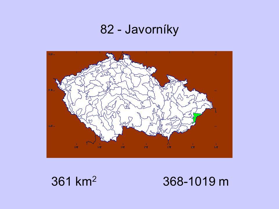 82 - Javorníky 361 km 2 368-1019 m