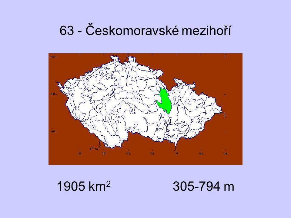 63 - Českomoravské mezihoří 1905 km 2 305-794 m