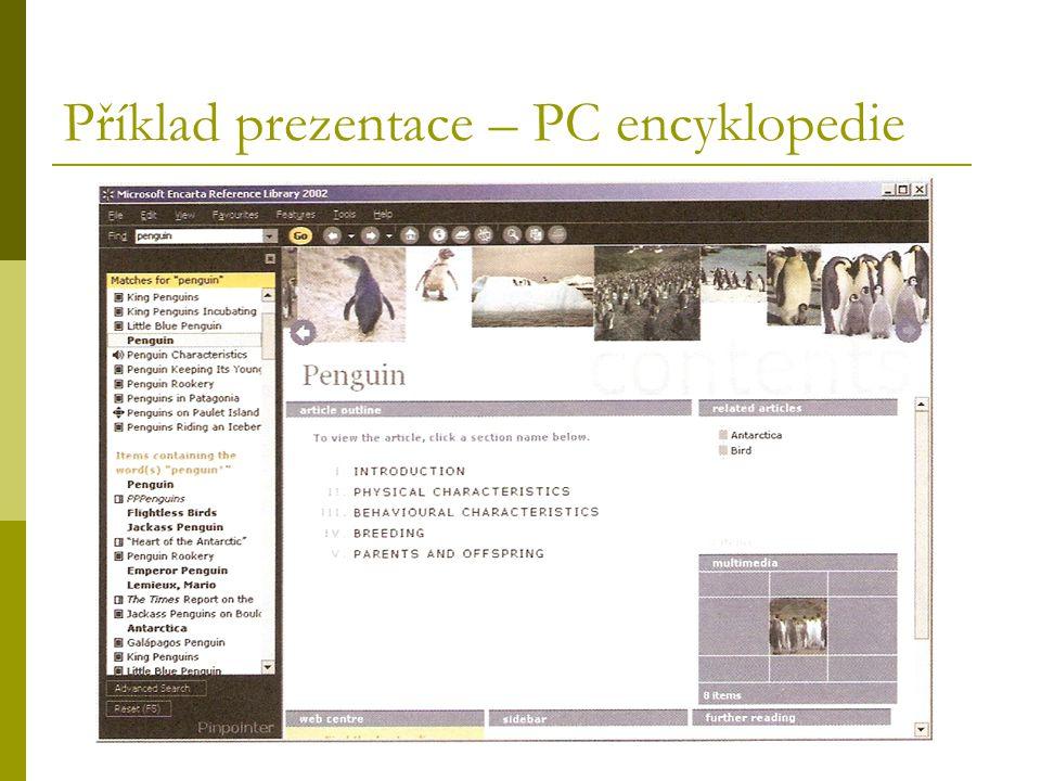 Příklad prezentace – PC encyklopedie