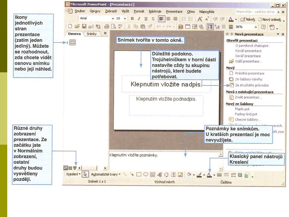WordArt  Jedná se již o nám známý ozdobný nápis. Vkládá se přes panel Kreslení.