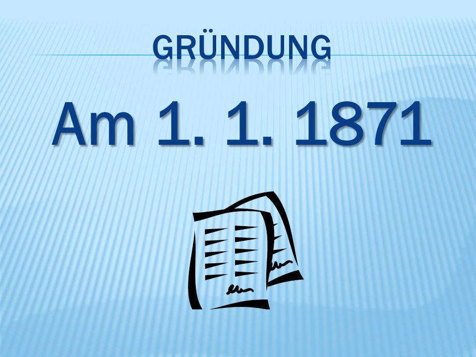 Am 1. 1. 1871