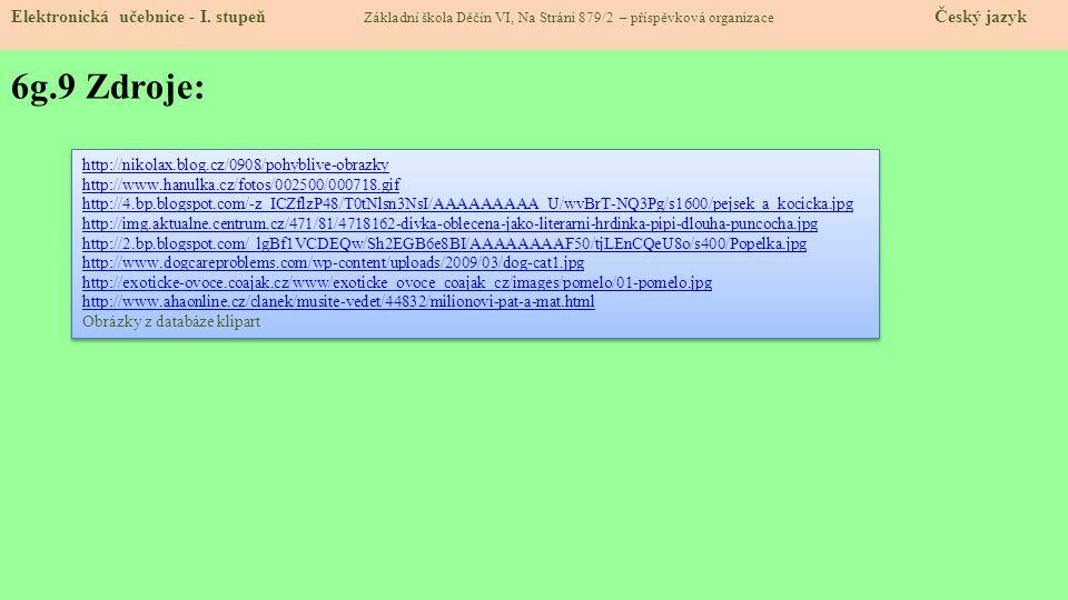 6g.10 Anotace: Elektronická učebnice - I.
