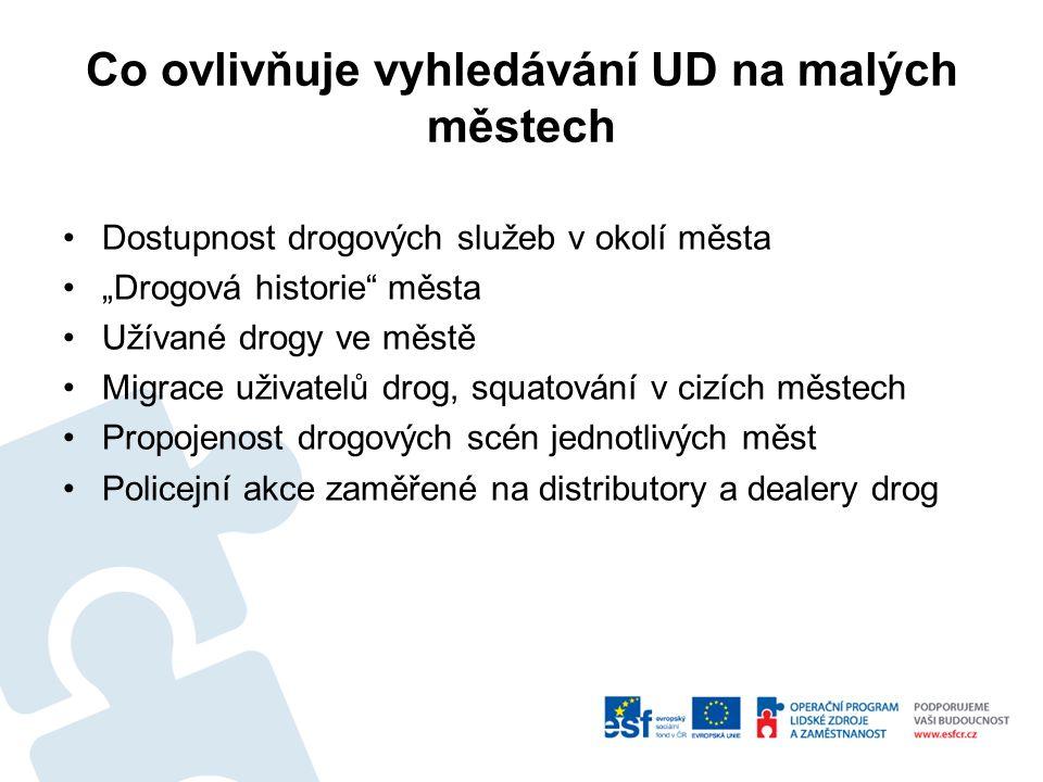 Způsoby aktivního vyhledávání UD Přímé -Oslovování Nepřímé -lékárenské balíčky -Kluby, herny, bary, hospody -Spolupráce s odbornou veřejností