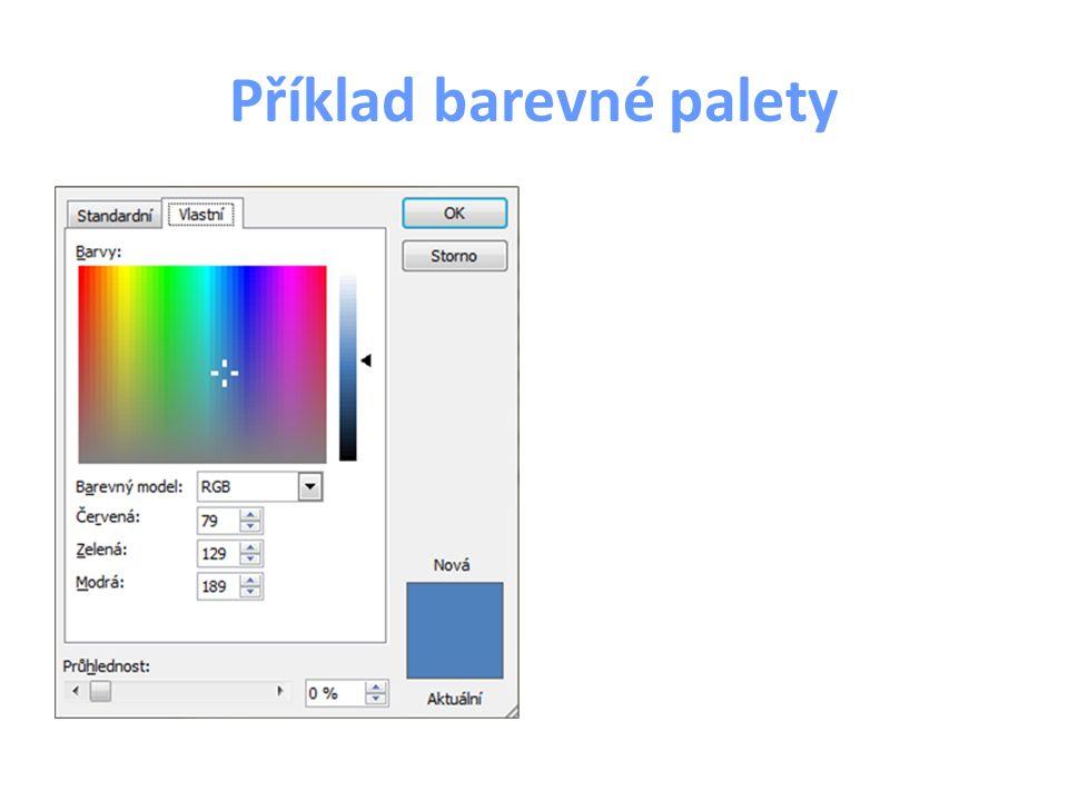 Příklad barevné palety