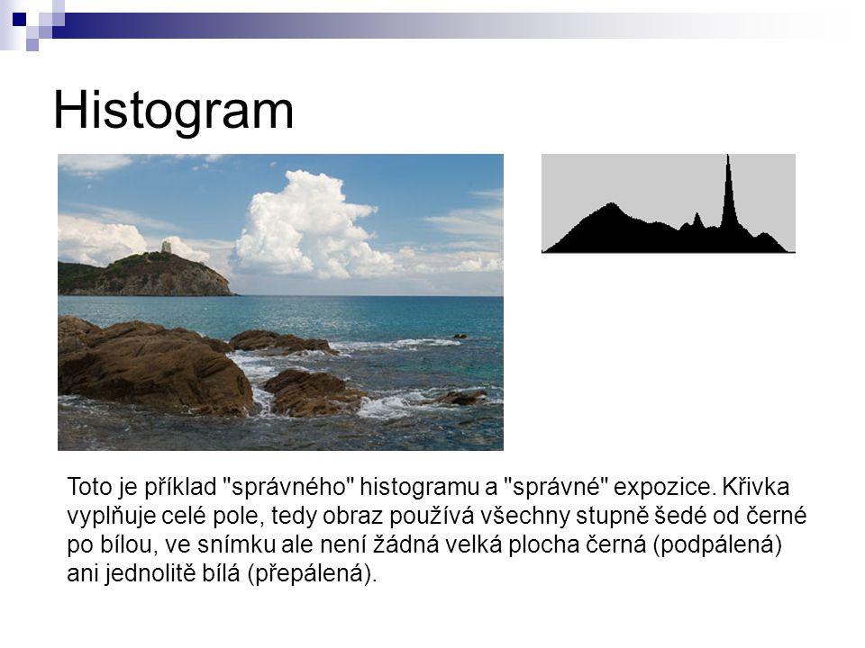 Histogram Toto je příklad správného histogramu a správné expozice.