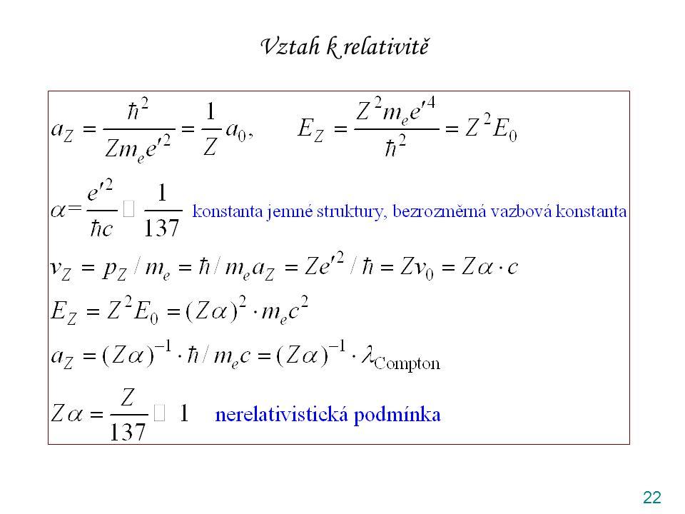 Vztah k relativitě 22