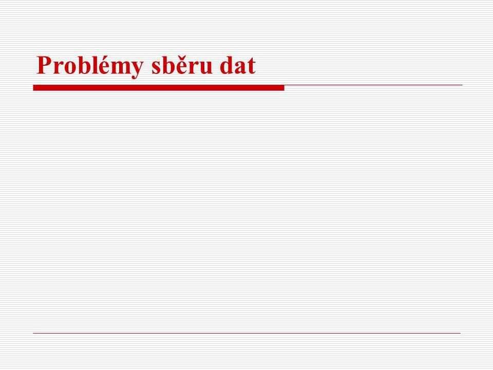 Problémy sběru dat